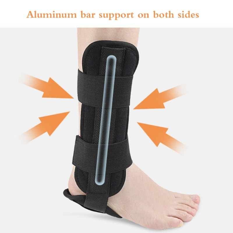 Ankle Brace Support Sports Adjustable Ankle Straps Sports Support Adjustable Foot Orthosis Stabilizer Ankle Protector