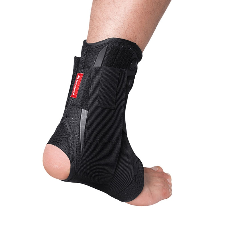 Kuangmi Ankle Support Brace Sports Foot Stabilizer Orthosis Adjustable Ankle Straps Pad Breathable Football Ankle Sock Protector